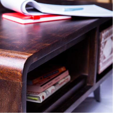 Журнальный стол, тумба из массива, СВАРНА