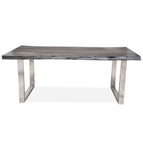 Стол из массива большой, ДЖИВАН platinum silver