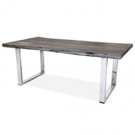 Рабочий стол в стиле лофт ДЖИВАН platinum silver
