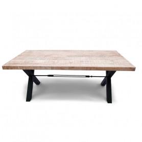Деревянный кухонный стол лофт ДХАТУ ДХАВАЛ большой