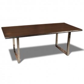 Стол лофт из массива, LIFE sigar silver, 2 метра